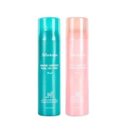 JMsolution Marine Luminous Pearl/Glow  Luminous  Flower  Sun Spray SPF50+PA++++ 180ml(1 bottles)