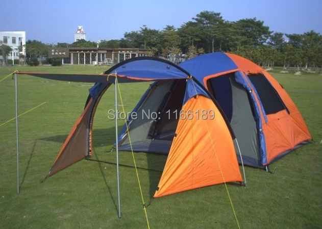 Ultra large 5 people 2 room family bivvy tent with front and back canopy big C&ing tents Double Layer large tente-in Tents from Sports u0026 Entertainment on ... : tents at big 5 - memphite.com