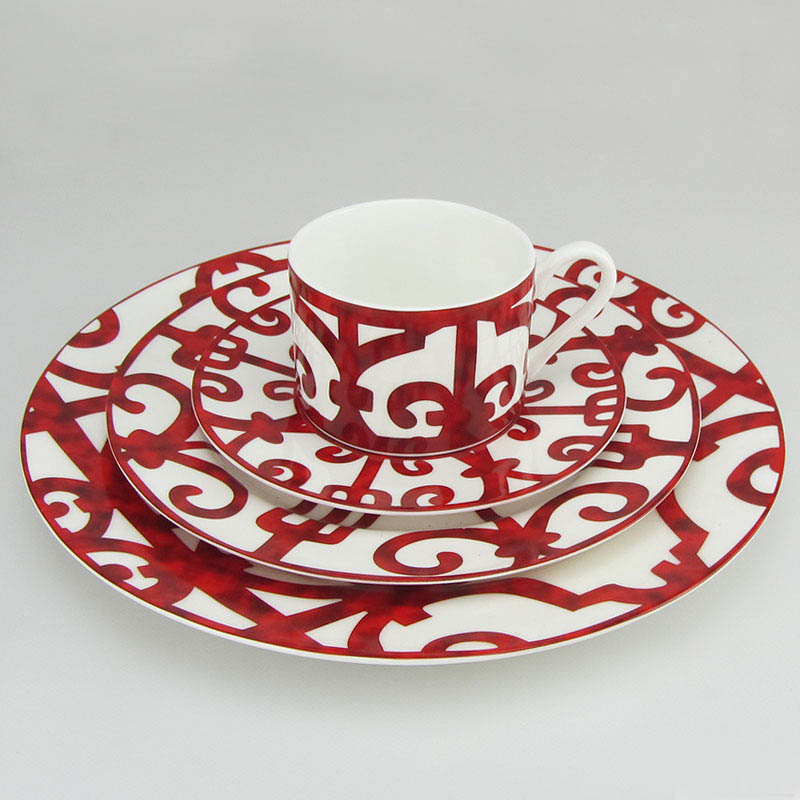 Bone China Dinnerware Set Porcelain European Tableware Dish And Plate Red Luxury Coffee Cups Saucers ...  sc 1 st  housewaredelight.com & Bone China Dinnerware Set Porcelain European Tableware Dish And ...