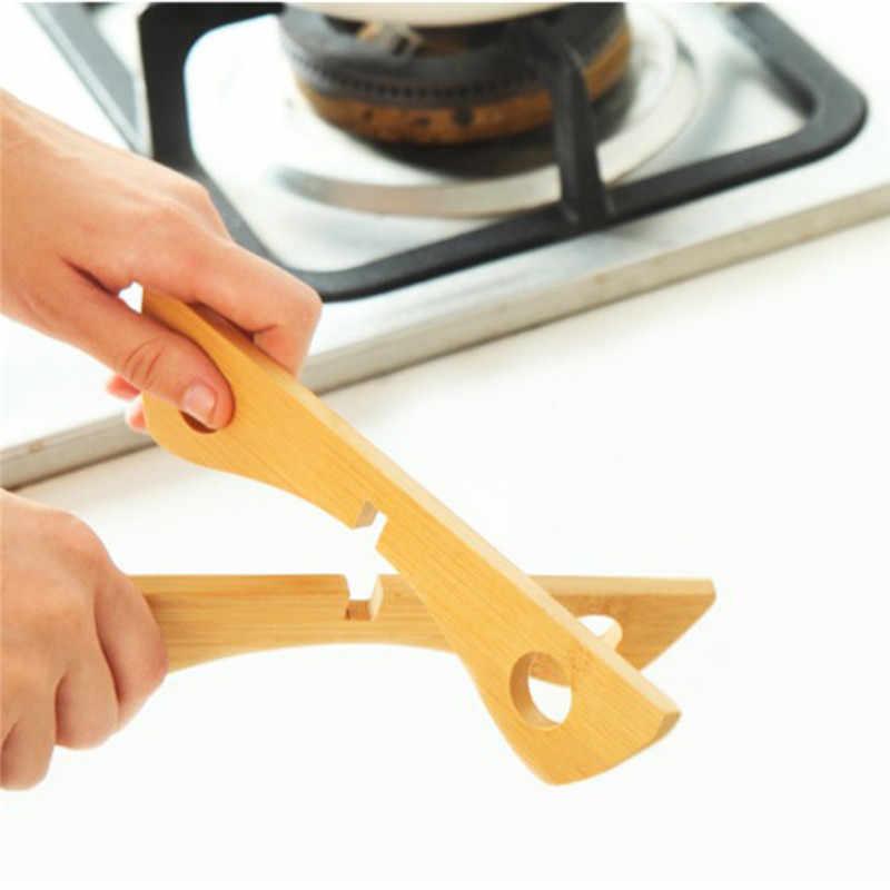 Бамбуковые термостойкие для сковороды подставки съемный горшок коврик держатель готовка изолирующая Опора подставки для кружек кухонные аксессуары GI892508