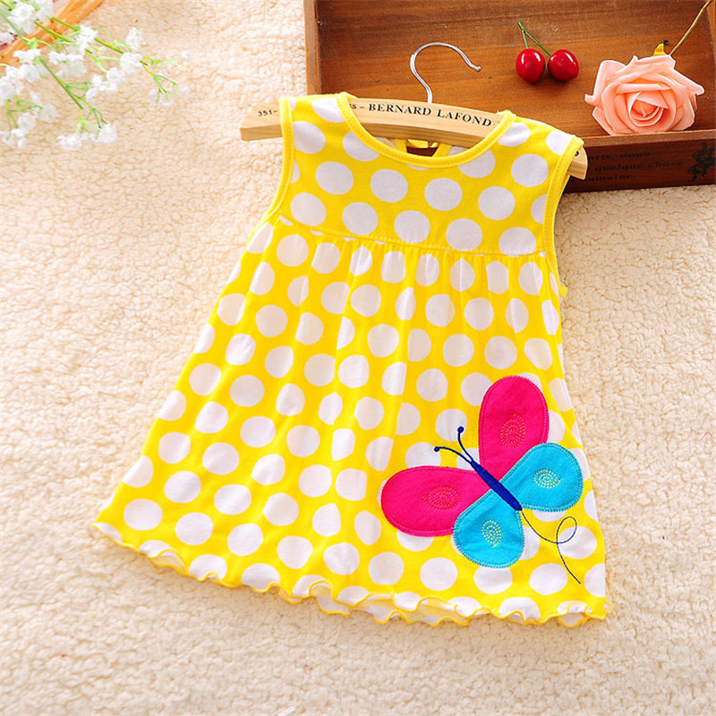 2017 Cute Vestido infantil Baby Girl Dress Cotton Regular Sleeveless A-Line Dresses Casual Clothing Minin Princess 0-24 Months