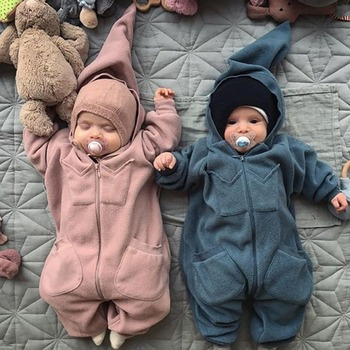 a84896f55 Invierno bebé recién nacido mameluco de algodón niños niñas de dibujos  animados lindo pequeño monstruo overol mameluco niños Bebes mono bebé 0-24 M