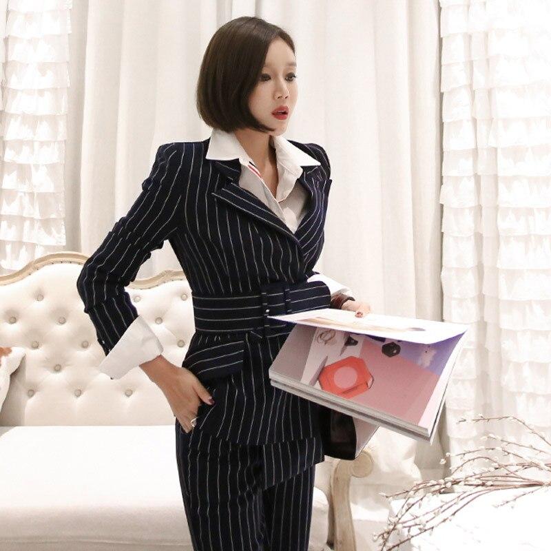 Survêtement La 1 2019 De Taille Deux Salopette Coréen Rayure Tweed Plus Femmes Costumes Nouvelles Pièces Femme Ensembles Vêtements p1npqT7r