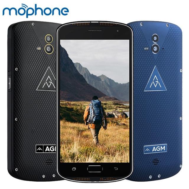 "AGM X1 Tri-proof IP68 Smartphone 4G 5.5"" Qualcomm Snapdragon 617 Octa-core 4GB+64GB 13.0MP Dual Rear Cameras 5400mAh Cellphone"