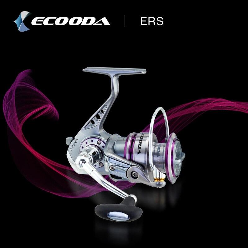 Ecooda Top Metal Fishing Reel Coil Sea Spinning Reels Deep and Metal Spool Size 1500 2000 5.1:1 9BB Drag Power 6kg Fishing Reel