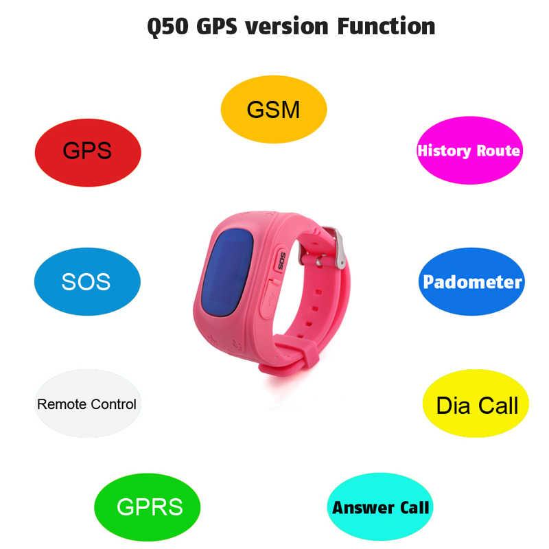 Смарт-часы Детские анти-потери gps смарт-браслет с шагометром SOS Вызов локатор трекер монитор детские наручные часы для мальчиков и девочек