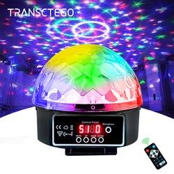 Lámpara de escenario Led Disco luz láser 9 colores 21 modos DMX DJ sonido fiesta luz proyector Navidad luces sonoras Led Disco bola Luz