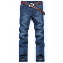 Four seasons Denim Long Pants Men Jeans Fashion Casual Cotto