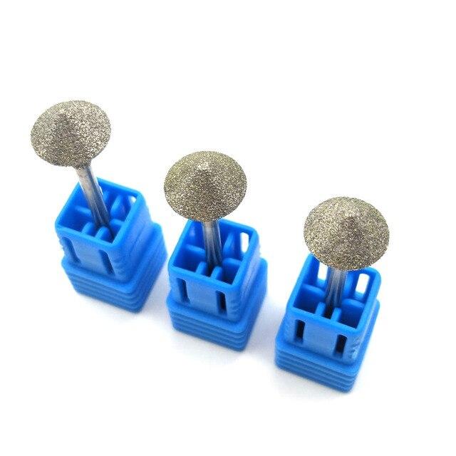 """HYTOOS 10mm Rhombus Diamond Nail Drill Bit 3/32"""" Rotary Burr Manicure Cutters Electric Drill Accessories Nail Mills Tools-D-7 4"""