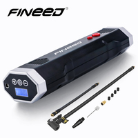 Fineed 12V air compressor car tyre inflator mini portable electric auto pump 120 PSI tire inflator for Motorcycle Bicycle balls