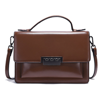 Genuine Leather Women Bag Small Flap Square Vintage Stylish Tote Sac A Main Female Tote Office Lady Crossbody Bag EGT0139