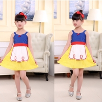Kids Princess Dress Snow White Princess Clothing Chef Cosplay Dress For Children Festival Cosplay