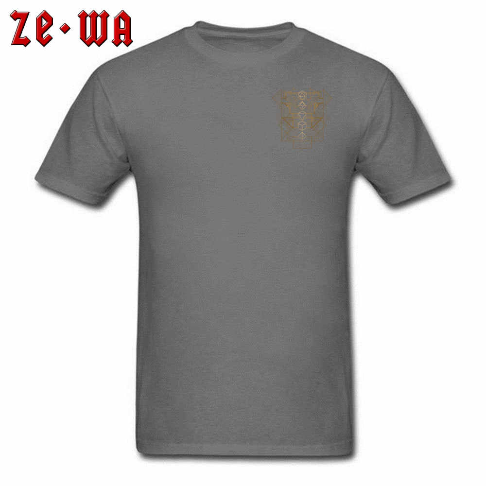 Мужская футболка в стиле панк DnD, темница и футболка с драконом, геймером в кости, деко, золотые геометрические дизайнерские футболки для мужчин, хлопковая уличная одежда