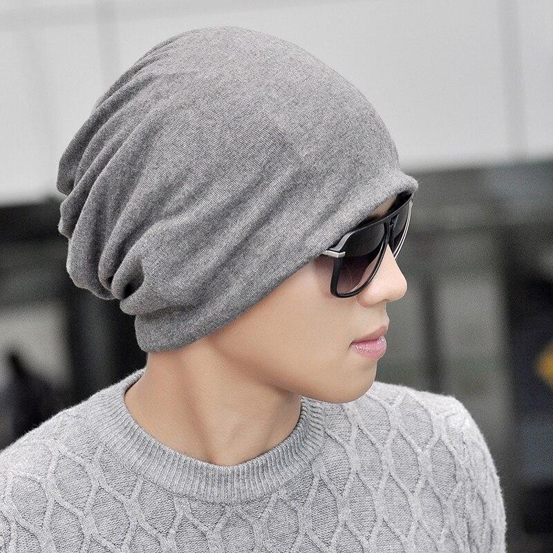6278ae0a19ae3 Beanie for Men Women Baggy Skull Cap Slouchy Winter Warm Hat Reversible  Knit Ski Headgear Multifunction 3 in 1 Scarf Face mask-in Skullies   Beanies  from ...