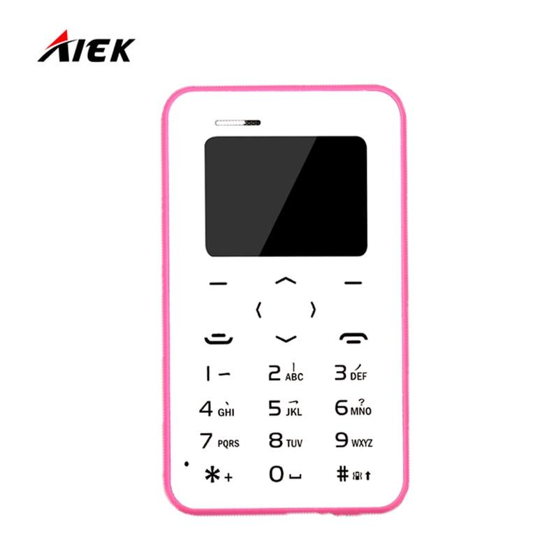 Hot Sale AIEK AEKU Q2 GSM Card Mobile Phone Ultra Thin 4 8MM Pocke Children Gift