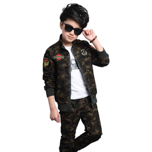 Image 3 - Male child clothing autumn set camouflage cotton 100% 2020 sports sets child spring boy long sleeve + pants 2pcs