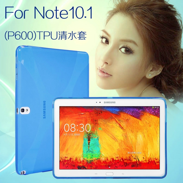 New Luxury Silicone X Line Soft Silicon Rubber TPU Gel Skin Shell Cover Case For Samsung Galaxy Note 10.1 2014 Edition P600 P601 protective tpu pvc case w pet screen protector for samsung galaxy note 10 1 2014 edition p600