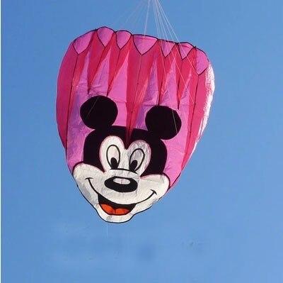 Высокое качество, Микки Маус, мягкое летучие змеи с ручкой, легко летают, дети, мультфильм, подарок, кайт Вэй, воздушный змей, Летающий