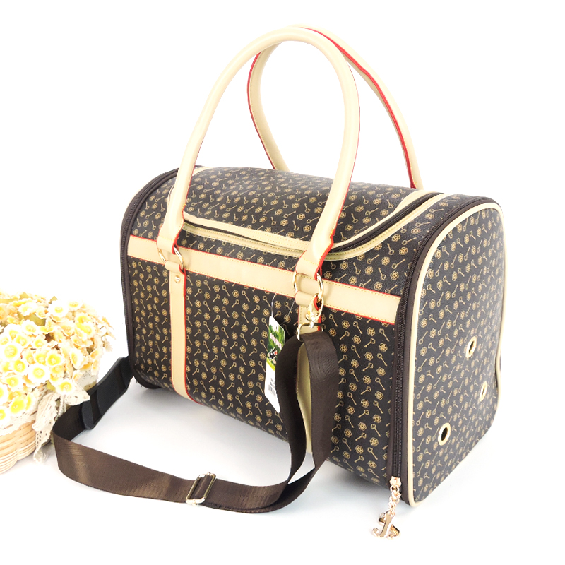 Luxury Dog Sling Bag Folding Leopard Fashion Outdoor Pet Carrier Small Medium Puppies Carrying Transportation Shoulder Bag Cats