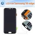 Оригинальный ЖК-ДИСПЛЕЙ для Samsung Galaxy S6 edge G925 изогнутый ЖК-дисплей с сенсорным экраном digitizer стекло ассамблеи 5.1 дюймов черный белый золото