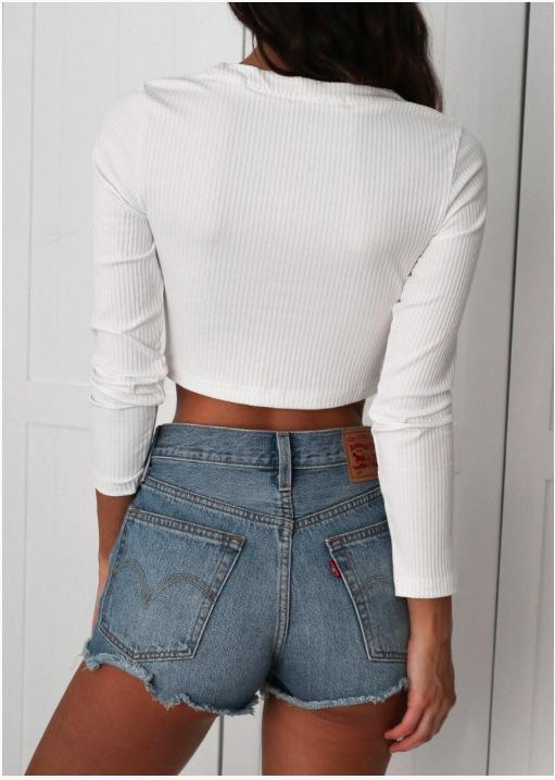 HTB1iHJNQXXXXXaZXVXXq6xXFXXX4 - Sexy Lace Up Crop Top long sleeve PTC 42