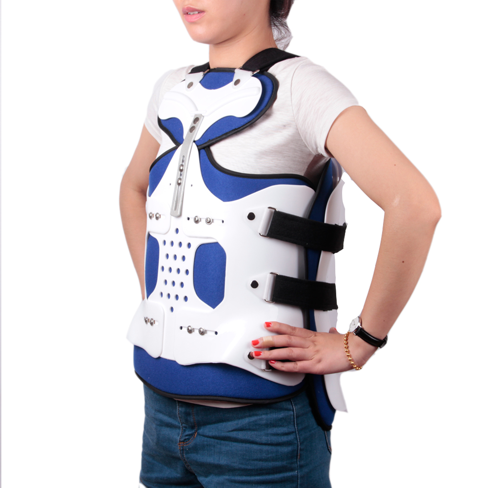 Summer Adjustable Thoracolumbar Orthosis Spine Lumbar Compression Fracture Fixation Support Waist Brace Universal White Color комплект sc