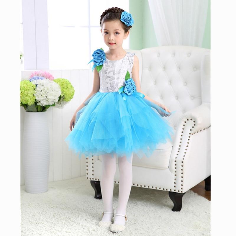 Girls bule fairy Costumes Halloween Dress Avenue Neverland Garden Fairy kids Costume lovely princess Dress