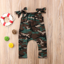 2018 new Newborn Kids Baby Girls Camo Sleeveless Romper Harem Playsuit Clothes Outfits fashion and handsome summer CH(China)