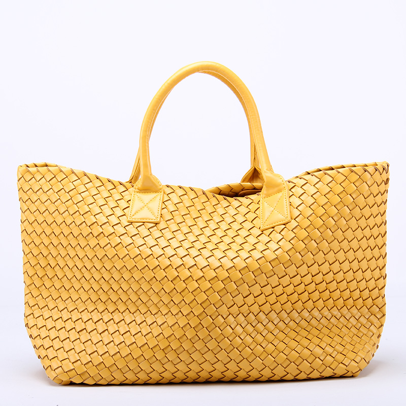 24 colors~Fashion Hand-Weaving Women handbag\Tote bag 2017 New Leather Ms. Casual Shoulder bag Travel Bag~Star models~13B123