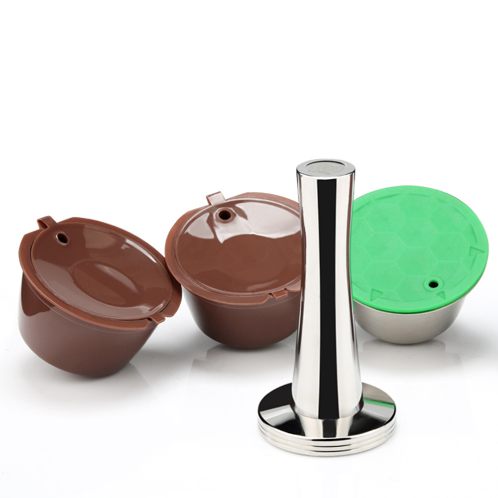 Stainless And Plastic Dolce Gusto Coffee Capsule Refillable Reusable Compatible With Nescafe Dolci Gusto Refill Coffee Filters