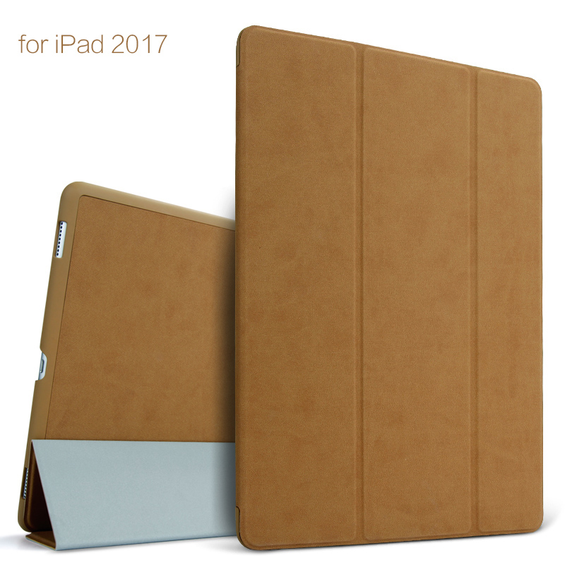 новый корпус бгр для iPad 9.7 дюймовый 2017 пробуждения смарт сна стенд ультра-тонкий складной кожаный ПУ откидная крышка чехол 9.7 'коке принципиально