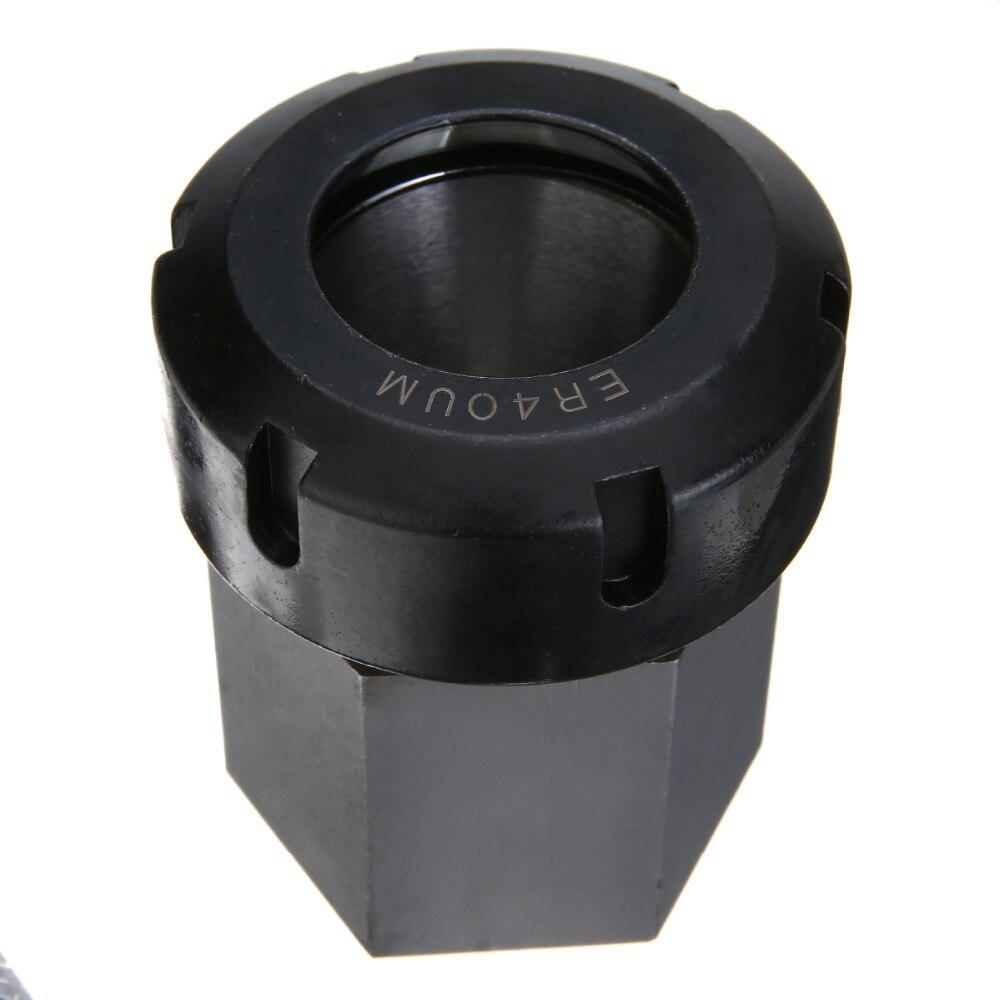 Durable Hex ER40 Collet Block Hard Steel Square Collet Block Holder 50x80mm For CNC Lathe Engraving Machine