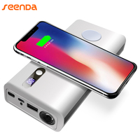 Portable 20000 MAh Power Bank Wireless Charger With Led Light New Qi Wireless Charging For IPhone