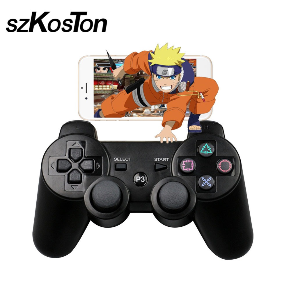 Novo Bluetooth Wireless Controller Gamepad para Sony PS3 Gaming Controle Remoto para Playstation Joystick Duplo choque Para Dualshock
