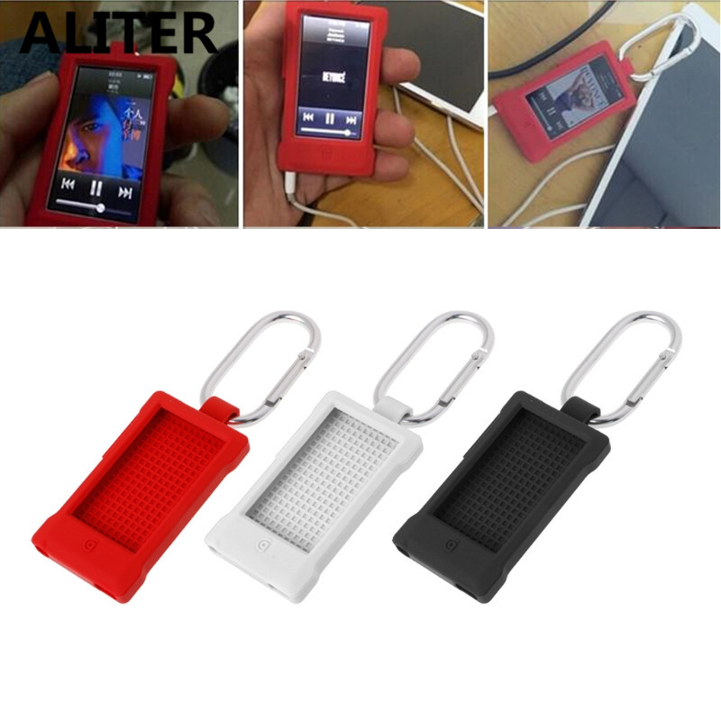 цена на Portable Silicone Case For iPod Nano 7 Outdoor Sport Protective Skin Cover With Carabiner