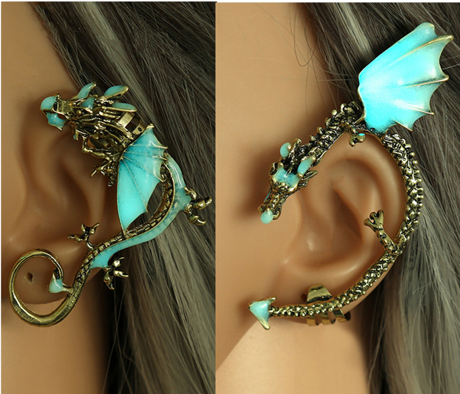 A Song Of Ice And Fire Game Of Thrones Daenerys Targaryen Dragon Glowing Ear Studs Earrings Dragon  Cosplay Accessories Gift