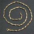 1 pc frete grátis dourado mulheres meninas colar aço inoxidável 316L novo Design colar de ouro