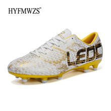 HYFMWZS 2018 Original FG Outdoor Shoes For Boys Soccer Shoes Krasovki