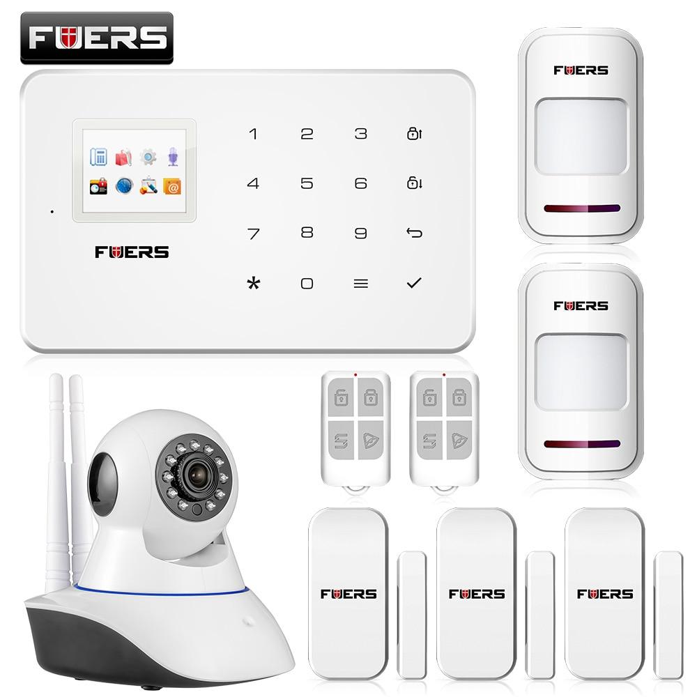 bilder für Neue ankunft drahtlose telefon app gsm alarm system home security alarma gsm 99 drahtlose zone TFT farbe display eingebauter sirene