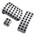 1 Set of Stainless Steel Pedal Pads For Mercedes Benz M GL R Class Replacement