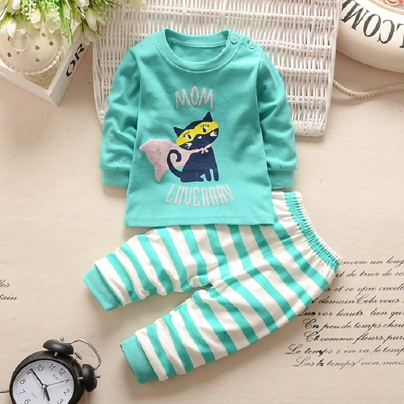 купить JKBBSETS Winter Baby Clothing Sets For Girls Boys Cotton Long Sleeve+Pant Kid Children Baby Girl Boy Clothes Underwear Pajamas онлайн