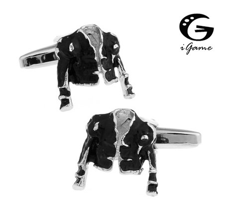 IGame Torero Cufflink Bully Jacket Design Black Color Quality Brass Material Cool Cuff Links Wholesale Free Shipping