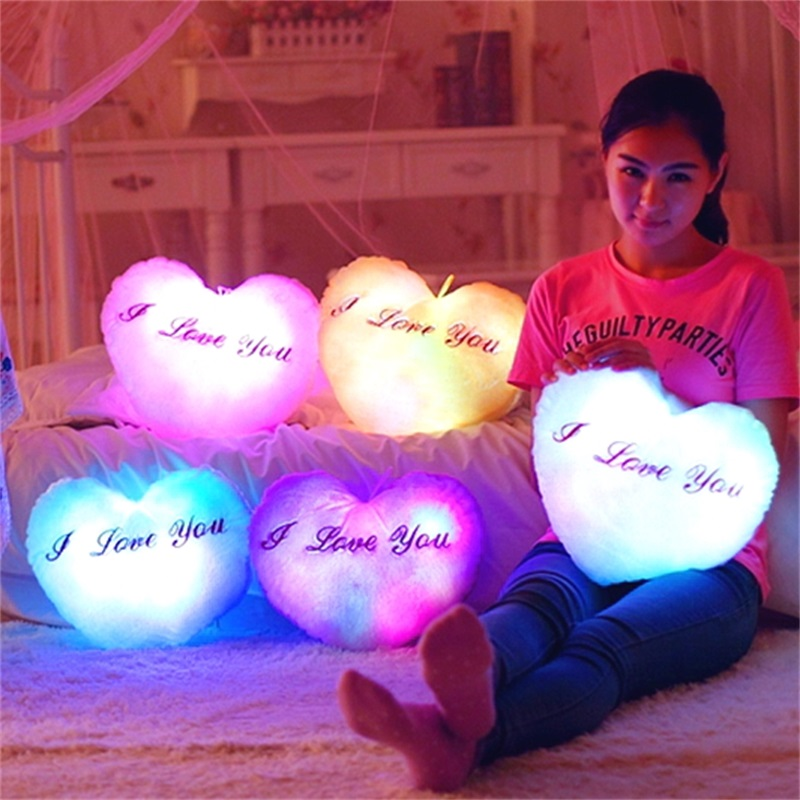Free shipping Love light pillow Comfort the child sleeping pillow Home Furnishing decoration back cushion toys for children gift