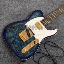 21 Frets rosewood Fingerboard TELE electric guitar,sea blue guitar, gold-plated hardware boutique guitar in stock цена в Москве и Питере