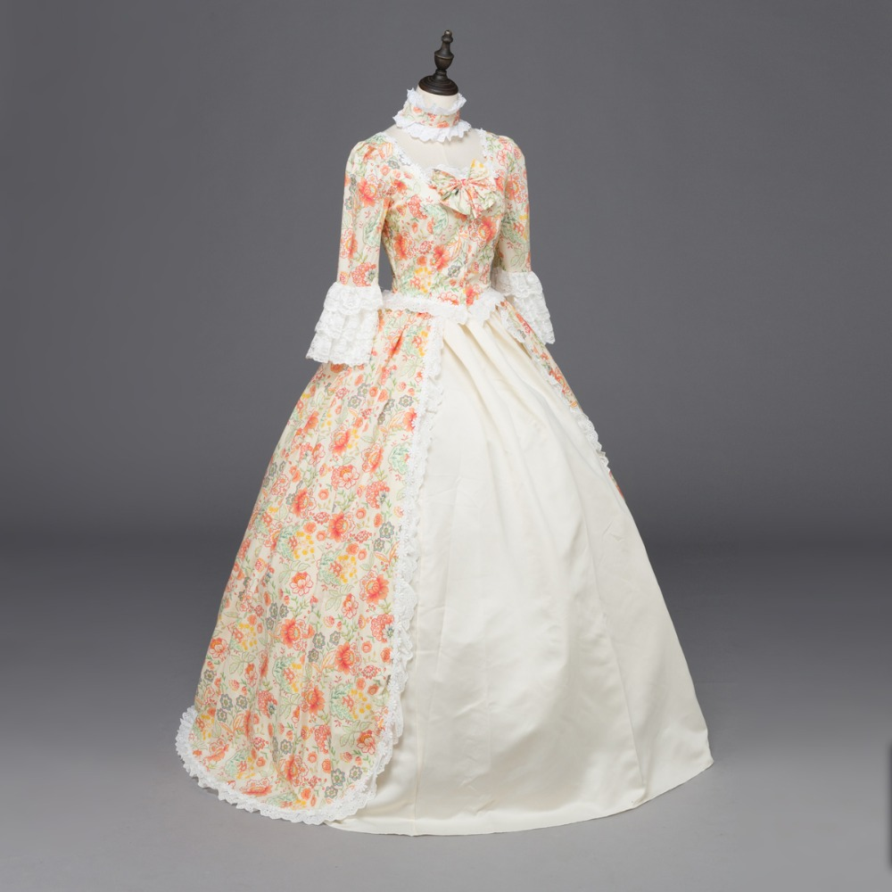 Printing Colonial Renaissance Period Victorian Dress Ball Gown ...