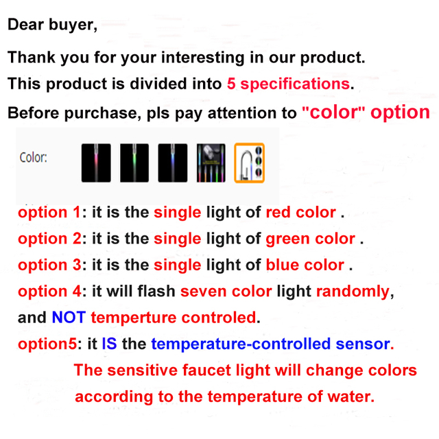 Zhang Ji LED Faucet Light Tap Nozzle RGB Color Blinking Temperature Faucet Aerator Water Saving Kitchen Bathroom Accessories