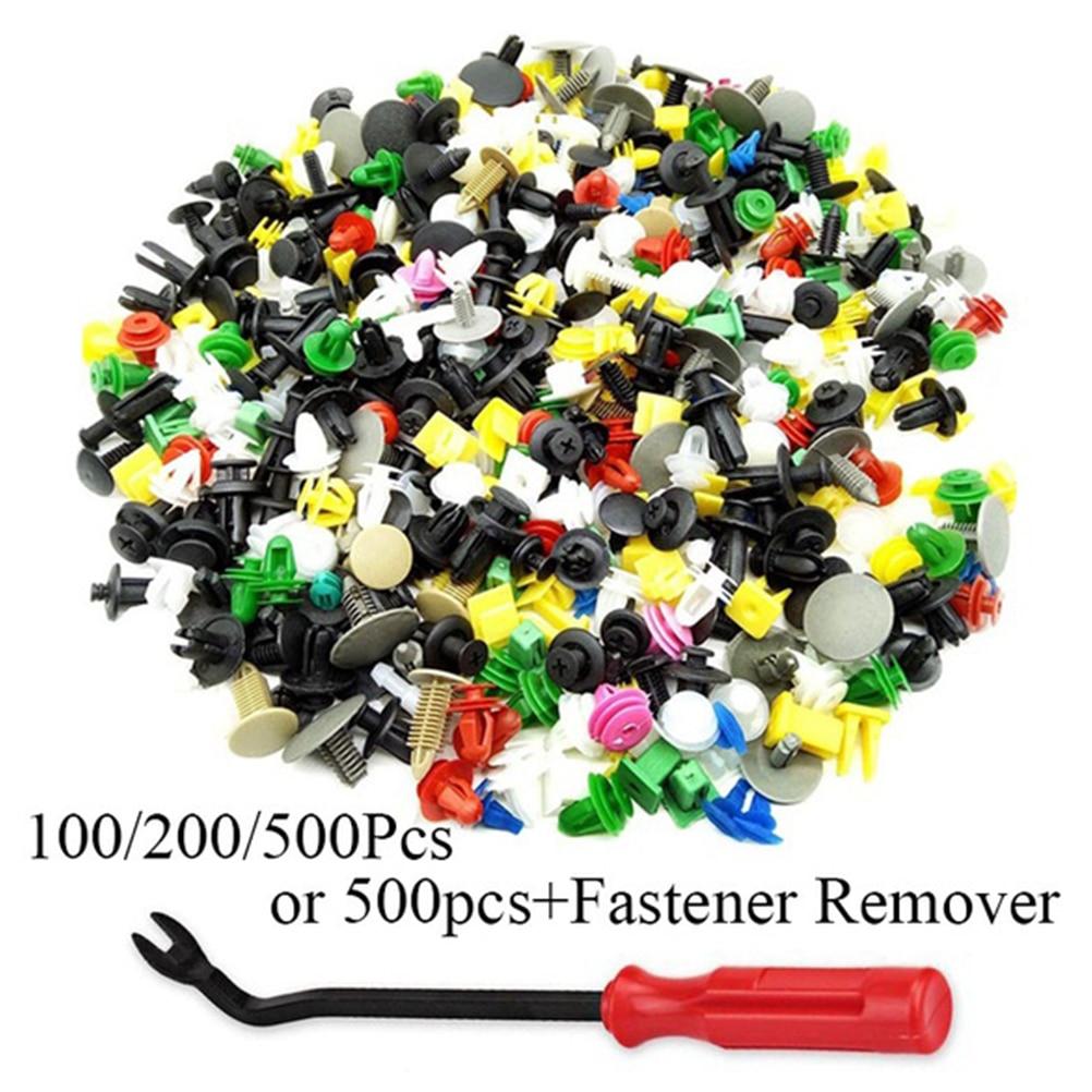500Pcs Auto Repair Tools Clips Fastener Rivet Bumper Panel Fender Liner Nylon