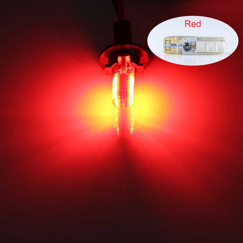 1 stück t10 w5w 12 v 24 v led innen auto lkw lichter 5050 6 leds 1 watt IP68 silikon auto Signal lampe gelb weiß rot blau grün