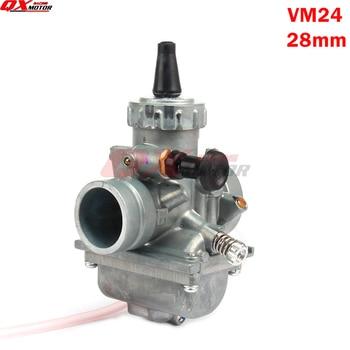 Carburador Mikuni VM24 PE28 28mm, carburador para 125 140 150 160cc Dirt Pit Bike ATVs de rendimiento de motocicleta UP