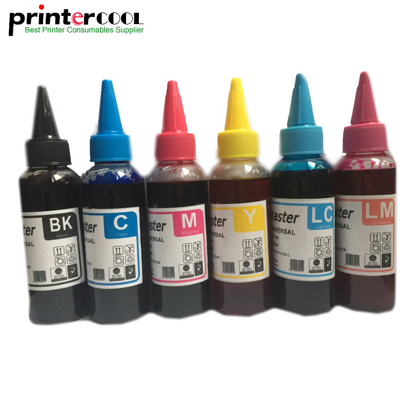 600ML Dye <font><b>Ink</b></font> For <font><b>Epson</b></font> Stylus Photo 1410 <font><b>R270</b></font> R390 RX590 R290 R610 RX690 T50 TX700W TX800W TX650 Printer <font><b>Ink</b></font> Refill Kits T0811 image